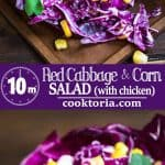Refreshing and bright, thisRed Cabbage and Corn Salad makes a perfect lunch or side dish. Itcomes together in minutes and is full of flavor! Refreshing and bright, thisRed Cabbage and Corn Salad makes a perfect lunch or side dish. Itcomes together in minutes and is full of flavor! ❤ COOKTORIA.COM #cabbage #salad #chicken #lunch