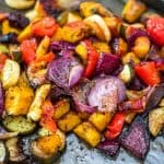 This is the easiest, simplest, and tastiest Oven Roasted Vegetables you'll ever try.Perfectly seasoned and colorful, they are healthy and full of flavor!