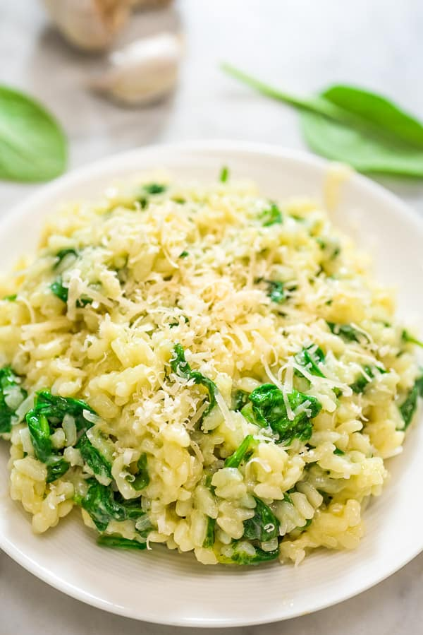 This Classic Spinach Risotto is a restaurant-worthy meal. It is rich, creamy, and so flavorful! Follow my step-by-step instructions and treat your family with this elegant dish.