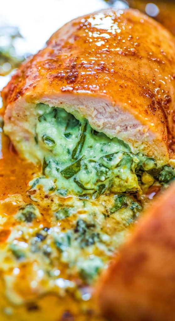 This is the easiest and the tastiest Spinach Stuffed Chicken Breast recipe. The spinach stuffing is so creamy and smooth that you'll become addicted to it. I warned you.  #chicken #dinner #spinach #creamy #recipeoftheday