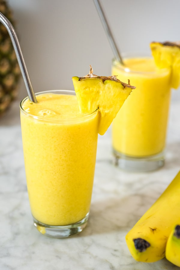 This Tropical Smoothie is easy to make and it tastes incredible. Whether you are looking for a light breakfast or a tasty afternoon treat, you'll definitely enjoy this sunny goodness!