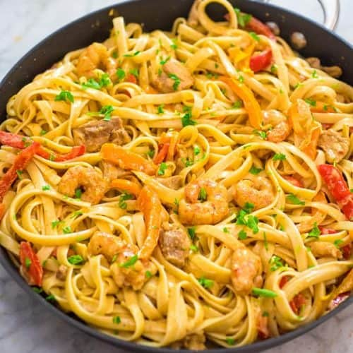 Chicken and Shrimp Pasta