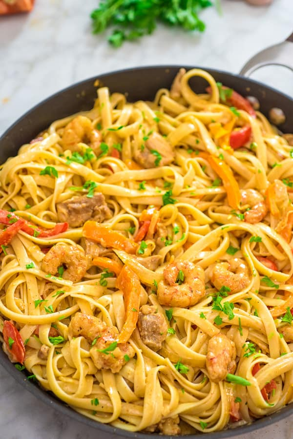 Easy recipes with chicken breast and shrimp