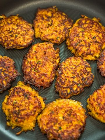Made with only 4 ingredients, these Sweet Potato Hash Browns are easy to make and very delicious. Learn how to make perfect hash browns with my step-by-step photo and video instructions.