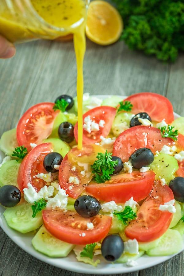 This Apple Cider Vinegar Salad Dressing is my favorite homemade salad dressing, and it's very easy to make. Simple ingredients – incredible taste!