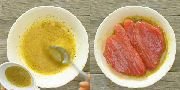 making marinade for ahi tuna steak