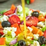 Greek Salad Dressing - wonderful addition to any salad. Made with simple ingredients, this dressing is tasty and easy to make!