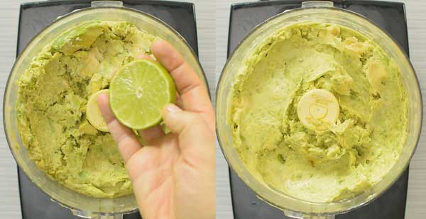 adding lime to avocado ice cream