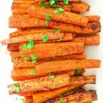 Carrot Fries on a white plate