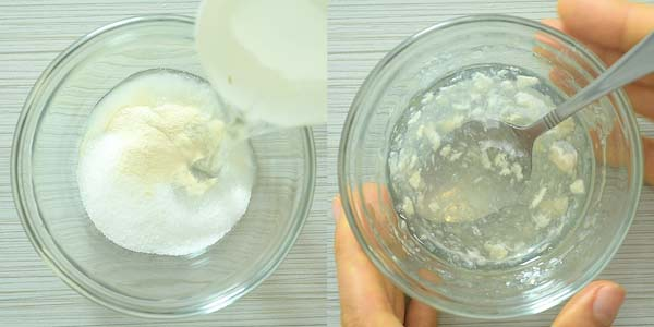 preparing xanthan gum mixture for green tea frappuccino