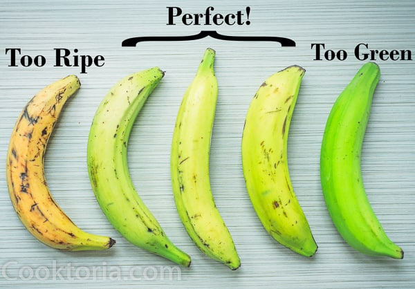 plantain ripeness comparison