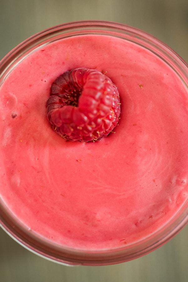 raspberry vinaigrette from up close