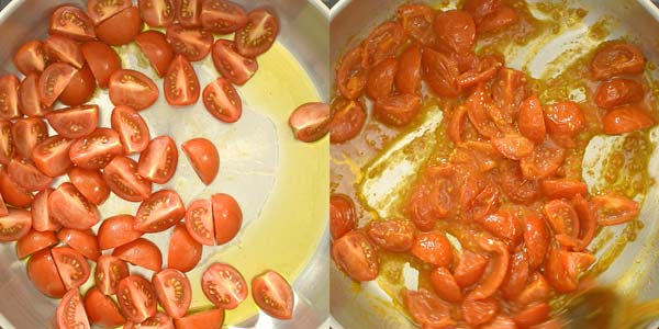 cooking tomatoes in olive oil