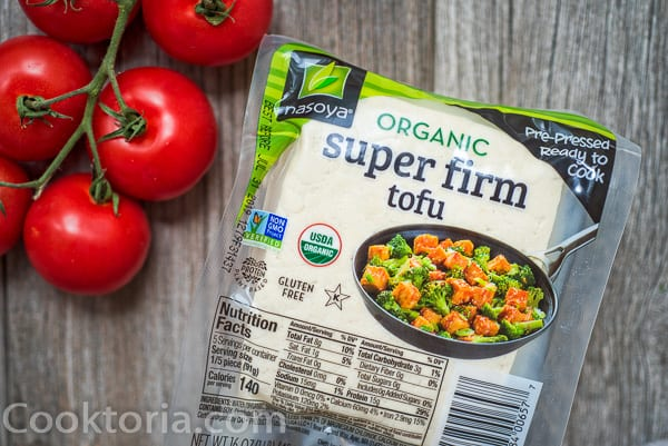 organic super firm tofu in a package