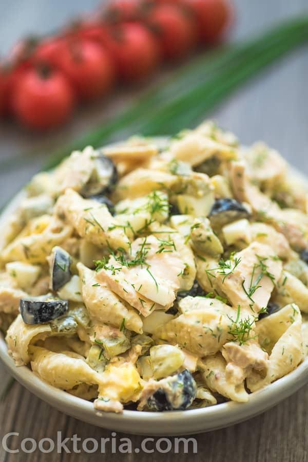 Tuna Pasta Salad on a plate