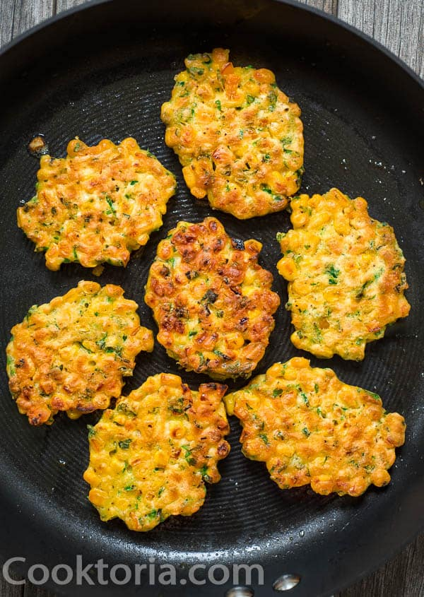 Corn Fritters on the Skillet