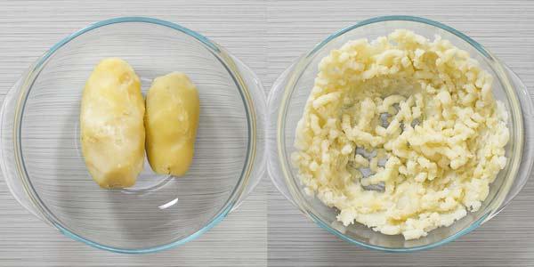 Mashing Potatoes in a bowl