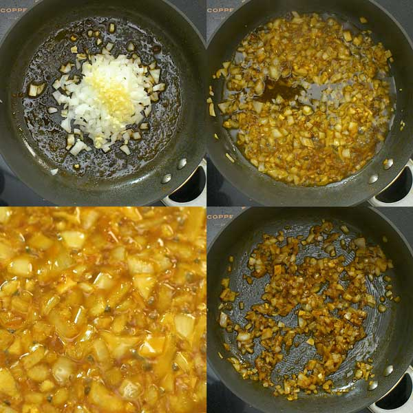 cooking onion and garlic