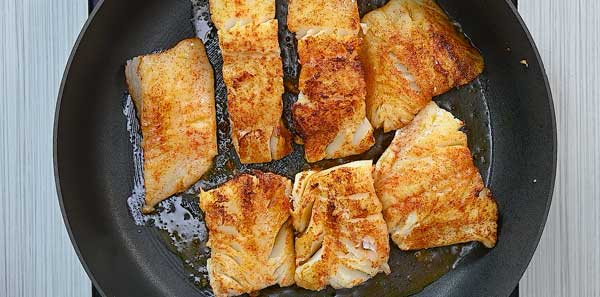 frying cod fish in avocado oil