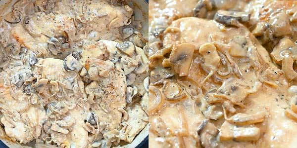 cooking chicken in mushroom sauce