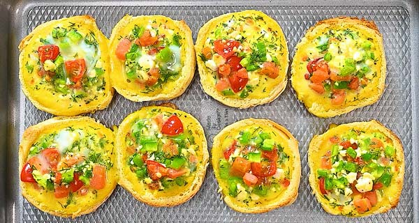 baking veggie egg cups just until eggs set