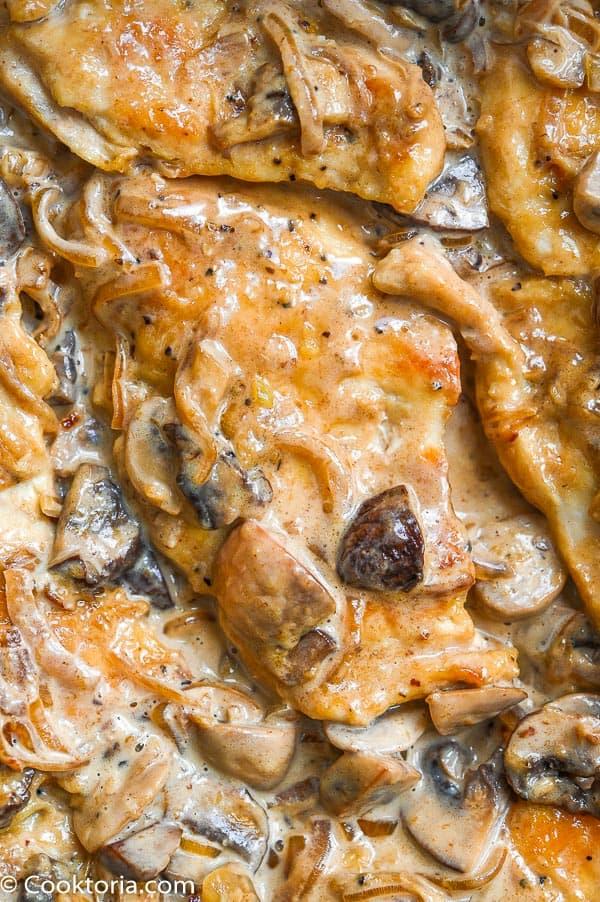 Mushroom Chicken in creamy sauce