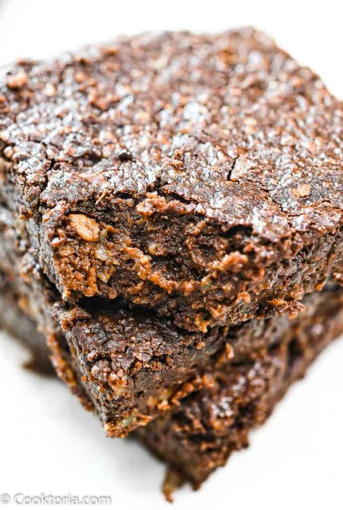 Close up shot of Avocado Brownie