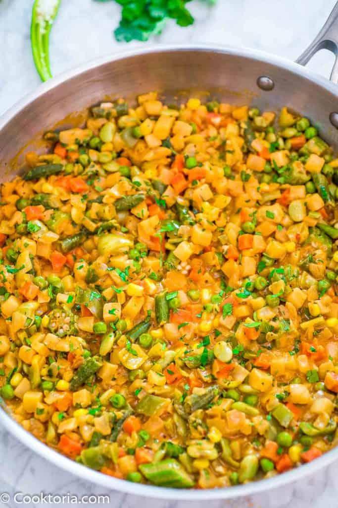 Vegetable Stew in a skillet