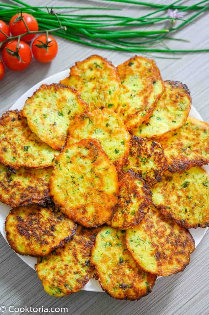 Potato Pancakes on a white plate