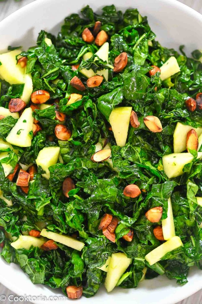 kale salad close up shot