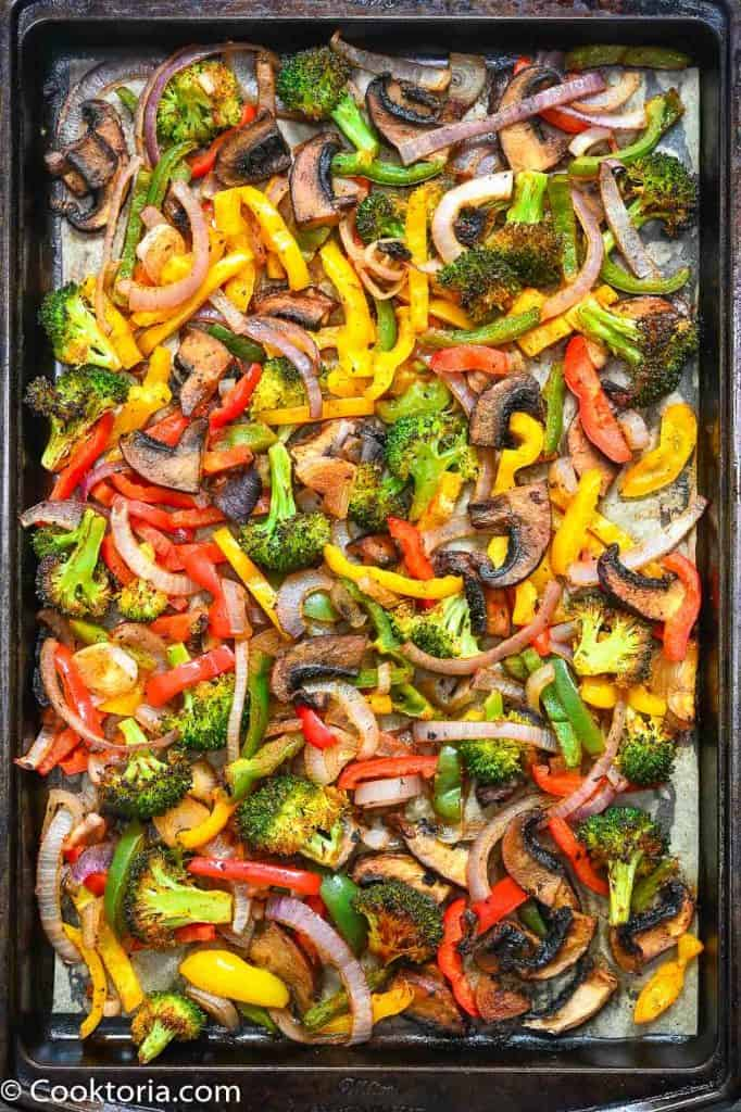 Fajita Vegetables on a tray