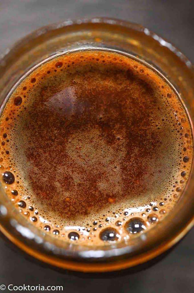 Vinagreta balsámica sin aceite en tarro