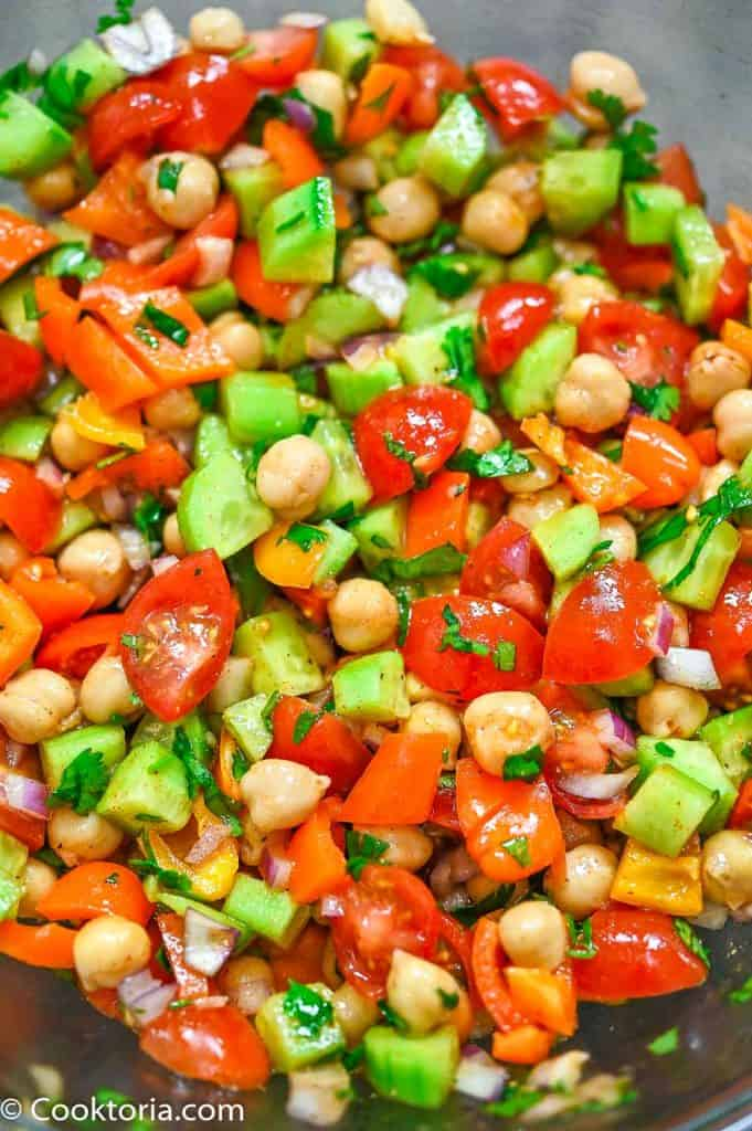 Chickpea Salad from the top